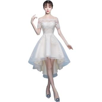 フィッシュテール 刺繍レース ワンピースドレス