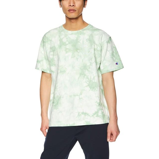 [チャンピオン] リバースウィーブ Tシャツ C3-P323 メンズ グリーン 日本 M (日本サイズM相当)