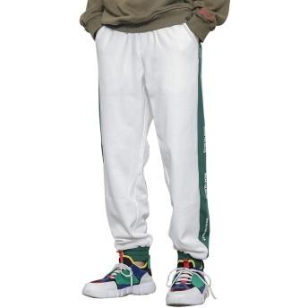 Changeジョガーパンツ スウェットパンツ おしゃれ ズボン ストリート 大きいサイズ 【白,3XL】
