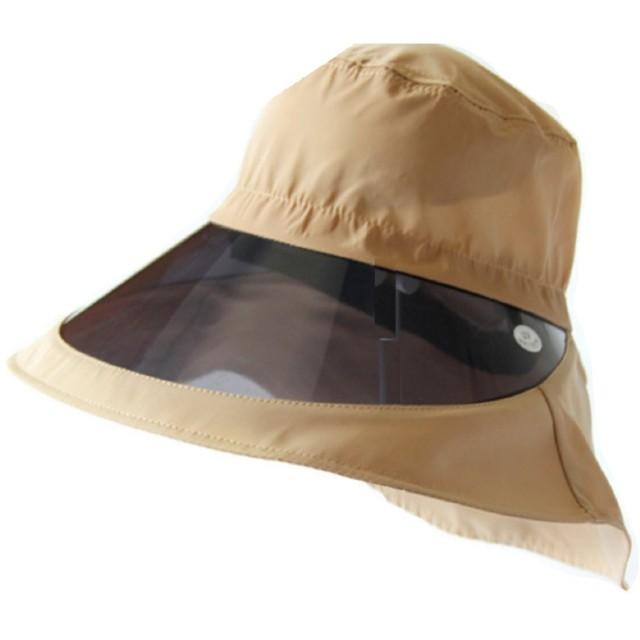 (ブルーム)BLOOM WCB くるくるまるめて持ち運び 収納に便利!秋冬も油断大敵! UV対策 しっかり UVcut サンバイザー 自転車 キャップ 帽子 紐付 ムレしらず 小顔 ワイド (ブラウン)
