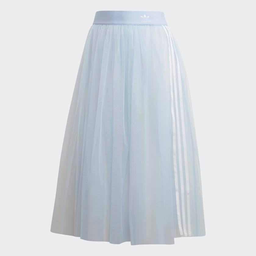 Adidas originals skirt tulle 透視 天空藍 配色 女款 裙子 DV0852