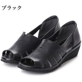 日本製 本革 サンダル レディース 厚底 ウェッジヒール 黒 オープントゥ ウェッジサンダル レディースサンダル 大きいサイズ 3E 幅広 白 ブラウン 24.5cm,アイボリー