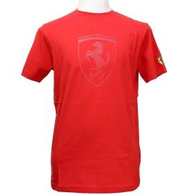 (フェラーリ) Ferrari メンズ シールド コントラスト Tシャツ レッド (M)