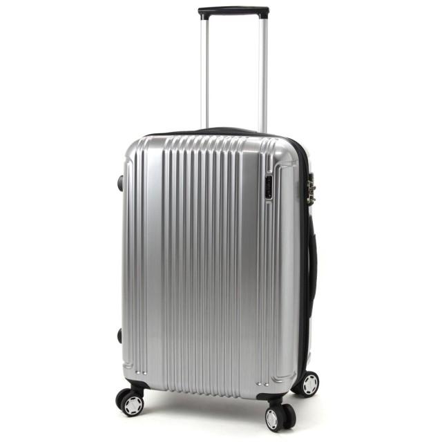 BERMAS PRESTIGE II バーマス プレステージ2 4輪 スーツケース ハードキャリー ファスナータイプ 49L TSAロック付 シルバー 60253-SV