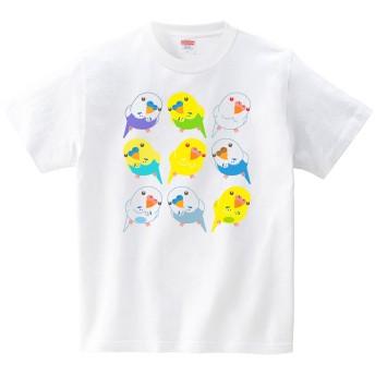 [itaxes] 首かしげインコ(Tシャツ・ホワイト)(Sサイズ) (イシイミホ)