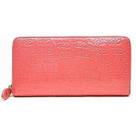 (フォリフォリ)Folli Follie ラウンドファアスナー長財布 ロゴマニア WA0L024SP ピンク