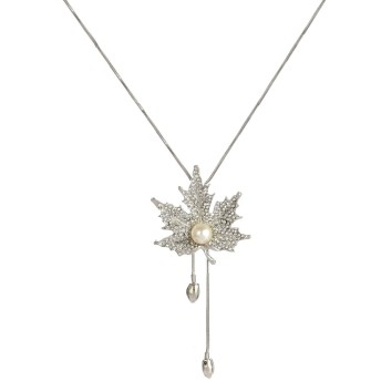OUYOU ネックレス レディースネックレス 優雅 キラキラ 高品質 人工宝石 キュービックジルコニア プレゼント 誕生日 記念日 母の日プレゼント