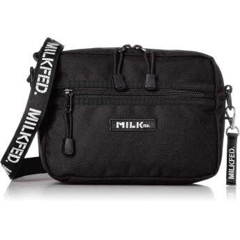[ミルクフェド] 2WAY SHOULDER BAG BAR Jr 3192052 BLACK