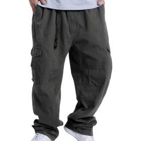 (ネルロッソ) NERLosso ワイドパンツ メンズ カーゴパンツ ロング 大きいサイズ ゆったり 大きめ 太め ボトムス 正規品 M アーミーグリーン cmi24129-M-agr