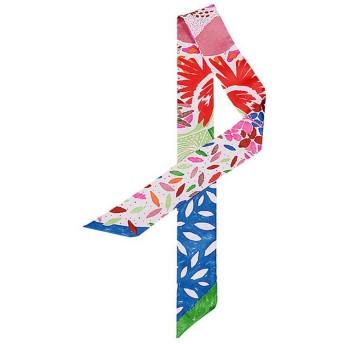 (トヨベイ)Toyobuy かわいい ツイリー スカーフ 長方形 ハンドル リボンスカーフ 巻きつけ アクセサリー 持ち手 小物 バッグ用細スカーフ(タイプA)