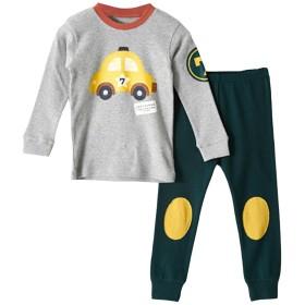 [美しいです] ガールズ パジャマ セット 二枚 新番 フリム ズボン パンツ 女の子 プリント 秋 春 花柄 シャツパジャマ ボーイ 男女兼用  (130, グレー)