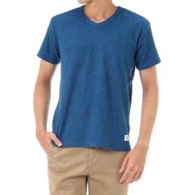 [アズールバイマウジー] Tシャツ スラブパイル Vネック 半袖T メンズ ダークブルー XS