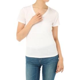 [アズールバイマウジー] Tシャツ カットソー ベーシックフィットVネック半袖PO レディース ホワイト S