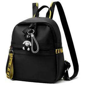 CAIXINGYI 女性 PU革 ハンドバッグ 潮 ファッション リュック レディース リュックサック バックパック 通学 カジュアル 旅行 (黒)