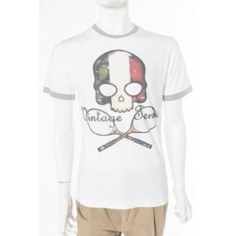 HYDROGEN メンズ Tシャツ 半袖 (FR0077)【L-WHITE ITALY】 並行輸入品