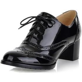 [Stylein] レディースブーツ ショートブーツ オックスフォードシューズ ミドルヒール レースアップ ファッション 歩きやすい