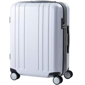 [プラスワン] スーツケース キャリーケース ALPHA SKY EX 容量55L(64L) 縦サイズ60cm 3.8kg 型番 9911-55EX 安心の1年保証付き (ホワイトカーボン)