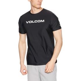 [ボルコム] [メンズ] 半袖 ラッシュガード Tシャツ (高機能CARVICO)[ N01119G1 / Apac Euro Corpo SS RG ] 海 おしゃれ 水陸両用 BLK_ブラック US S (日本サイズS相当)
