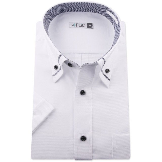 FLiC 半袖 ワイシャツ 形態安定 Mサイズ ノーマル 【snt/sst】snt-m-snt1006