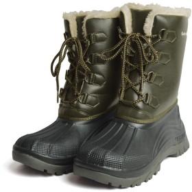 [ゴールデンレトリバー] 防水 防寒 防滑 レインブーツ スノーブーツ メンズ ブーツ 靴 シューズ スノー レイン シューズ アウトドア (26cm(25cm-25.5cm相当), Khaki)