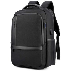 YoungMax バッグ バックパック リュック ビジネスリュック 大容量 18インチ A4対応 15.6インチPC収納 ビジネス USBポート付き 夜間反射 旅行 通勤 通学 多機能 耐摩擦性 通気性 かばん 防水 OL メンズ 2色 (ブラック)