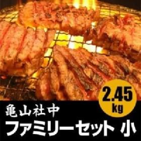 亀山社中 焼肉・BBQファミリーセット 小 2.45kg  送料無料