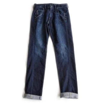 [C1321] Antgauge(アントゲージ) ストレッチデニムボーイズテーパードジーンズ Lily-リリー- サイズ L 35 MID BLUE