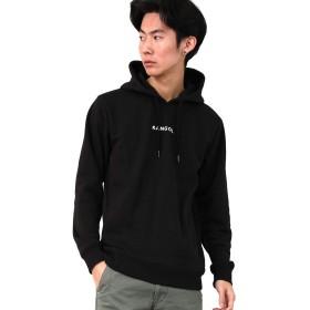 [カンゴール] KANGOL パーカー プルオーバー 裏起毛 別注 メンズ ブラック ホワイト M サイズ