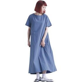 (メルロー) merlot 半袖ロングワンピース7601 878213537601 FREE ブルー
