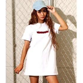 アナップ(ANAP) BOX刺繍Tシャツワンピース【WH/F】