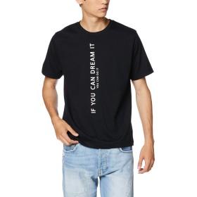 [ウィゴー] WEGO バーチカル ロゴ T シャツ 半袖 M ブラック メンズ