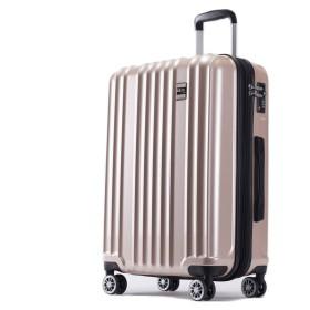 AKTIVA スーツケース 軽量 ファスナー TSAロック搭載ハードケース (機内持込、SSサイズ, ブラッシュシャンパンゴールド)