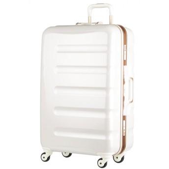 [アウトレット]スーツケース キャリーケース キャリーバッグ 旅行用品 ハードキャリー カラーフレーム 日乃本キャスター SS サイズ ハードケース フレーム 機内持ち込み可 超軽量 鏡面 W-6016-47 ホワイトカーボン