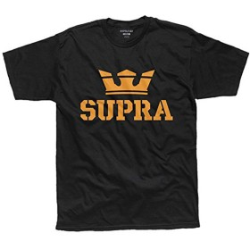 [スープラ] SUPRA ABOVE TEE [M] BLACK/ORANGE(055)