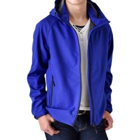 (アローナ)ARONA ジャケット マウンテンパーカー 撥水透湿 ストレッチ ソフトシェル 70ブルー LL