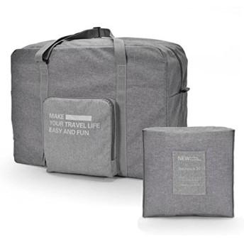 DICE 折りたたみ バッグ ボストンバッグ トラベルバッグ スーツケース対応 キャリーオン機能 レディース メンズ (グレー)