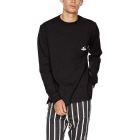 (クリフメイヤー) KRIFF MAYER TOUGH TEE サーフロゴ刺繍ポケットロンTEE M ブラック