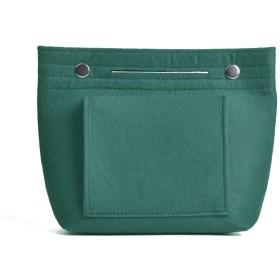 SURCHAR バッグインバッグ フェルト 小さめ 縦型 軽量 A5 コンパクト インナーバッグ バッグ内整理 レディース メンズ 収納バッグ 旅行用バッグ FELT BAG IN BAG 小物入れ 化粧 コスメ 収納 ポーチ ティールブルー
