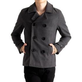 (ラフタス)Rafftas メルトン ウール ピーコート メンズ pコート コート 大きめ ゆったり Lサイズ チャコールグレー