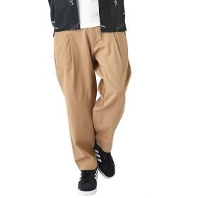 ダークベージュ M (ベストマート)BestMart ゆったり ワイドパンツ メンズ 9分丈 ツイル アンクル きれいめ 薄手 厚手 モード バギー 太め 太い スカンツ ガウチョ 韓国 ズボン ボトムス ダンス クロップド パンツ 624788-005-501