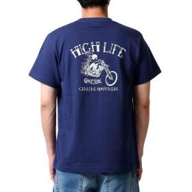 (コンフューズ)CONFUSE メンズ tシャツ 大きいサイズ ティシャツ ストリート 柄 ブランド 半袖Tシャツ バイク ロゴ プリント cfst2884 XL NAVY