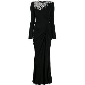 Alexander McQueen ビジュー ドレープドレス - ブラック