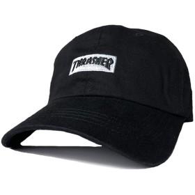 THRASHER スラッシャー キャップ 17TH-C56N (BLK/WHT) ローキャップ 帽子 ブラック キッズ 黒 メンズ レディース アジャスターバック ロゴ刺繍 ボックス 黒 白 17th
