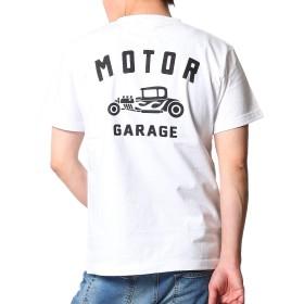 (コンフューズ)CONFUSE Tシャツ メンズ おおきいサイズ 半袖 プリント トップス ストリート系 カットソー クラシックカー柄 ロゴ 柄 cfst2933 (XXL, ホワイト)
