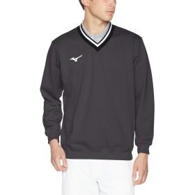[ミズノ] テニスウェア スウェットシャツ Vネック 肉厚 吸汗速乾 ストレッチ 男女兼用 62JC8002 キャスチャコール 日本 XS (日本サイズXS相当)