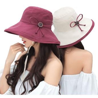 YELLOWPLUS 帽子 レディース UVカット ハット つば広 折りたたみ 日よけ帽子 2way 紫外線100%カット サイズ調整可能 おしゃれ サファリハット 軽量 おしゃれ 可愛い 婦人用 ハット 旅行用 9026-WINE RED