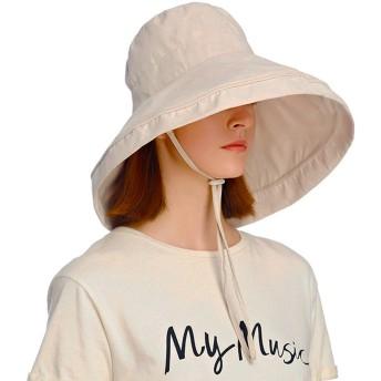 Sotia UVカット 帽子 レディース つば広 おしゃれ 可愛い ハット 紫外線対策 花粉対策 旅行用 防寒 日よけ 女優帽 小顔 UV対策 (ベージュ)