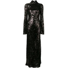 Galvan Moonlight Oasis ロングドレス - ブラック