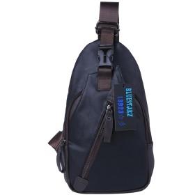 【BLUE STARZ 13923】メンズ ショルダーバック 斜めかけバック ボディバック 軽量 通学 通勤 旅行 登山 防水加工 (ブラック)