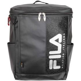 FILA(フィラ)TPUコーティングスクエアリュック BOX型 撥水 軽量 (シルバー)